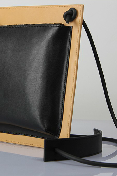 2015 was the first simple leather fashion Black Leather Shoulder Bag Handbag