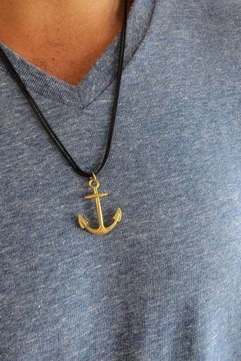 Men's Necklace - Men's Anchor Necklace - Men's Gold Necklace - Mens Jewelry - Necklaces For Men - Jewelry For Men - Gift for Him