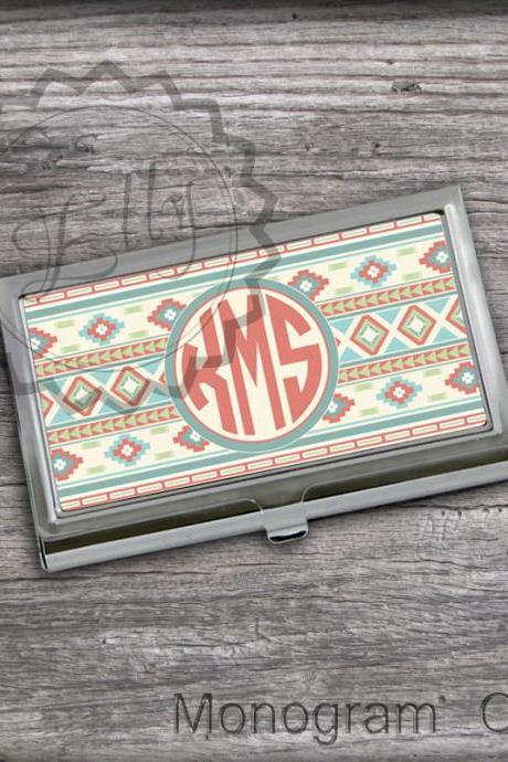 Idaho inspired Business Card Holder - Monogrammed Card holder, customized holder, steel card keeper
