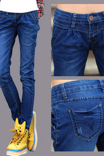 The new jeans jeans stretch jeans Haren slim slim jeans women