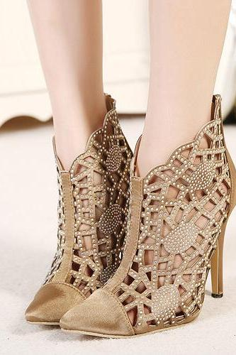 Rhinestone Embellished Pointed Toe High heel Pumps