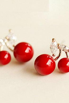 Cherry Ear Clips/ Studs