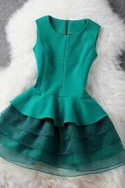 Fashion Sleeveless Vest Dress