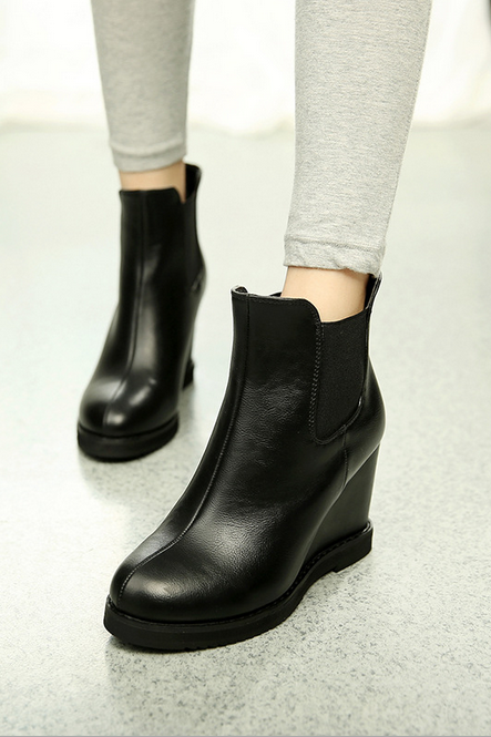 The autumn / winter 2015 new energy-saving waterproof Taiwan wedge boot boot Ma Dingxue