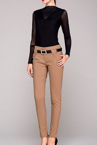 The 2014 European And American Leisure Trousers Long Section Of High Elastic Cotton All-Match Backing Leisure Trousers