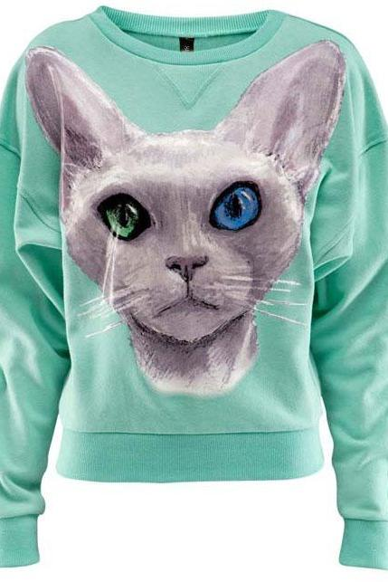 3D Cute Loose Cotton Sweatshirt