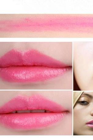 Sale Watermelon Red Waterproof Daily Candy Sweet Color Lipstick Long Lasting Matte Smooth Moisturized Glitter Honey lipstick Cosmetic Lip Gloss Sweet Girl Makeup Lipstick Gift for Her
