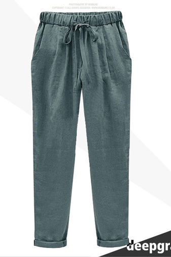 Peg Trousers with Elastic Waistband