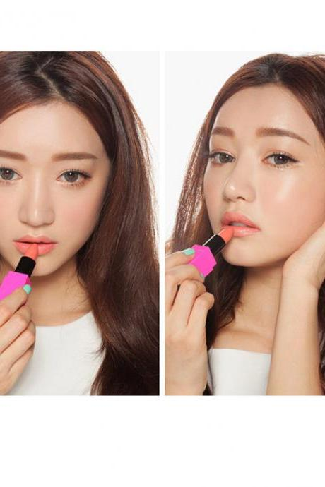 Cream Coral Hot Sale Waterproof Elegant Daily Neon Candy Color Lipstick Long Lasting Matte Smooth Moisturized Glitter Honey lipstick Cosmetic Lip Gloss Sweet Girl Makeup Lipstick