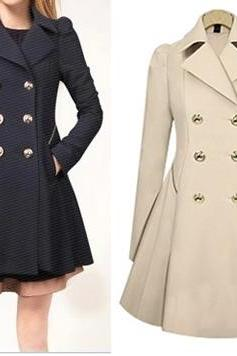 Double Breasted Trench Coat Jacket For Women WC088