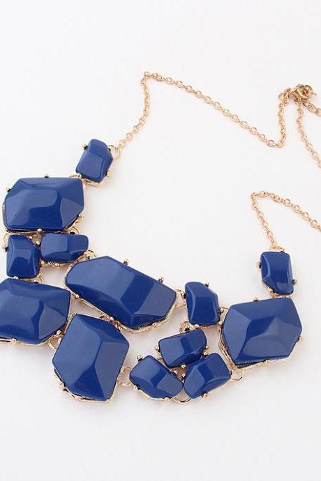 Geometric Pattern Statement Necklace