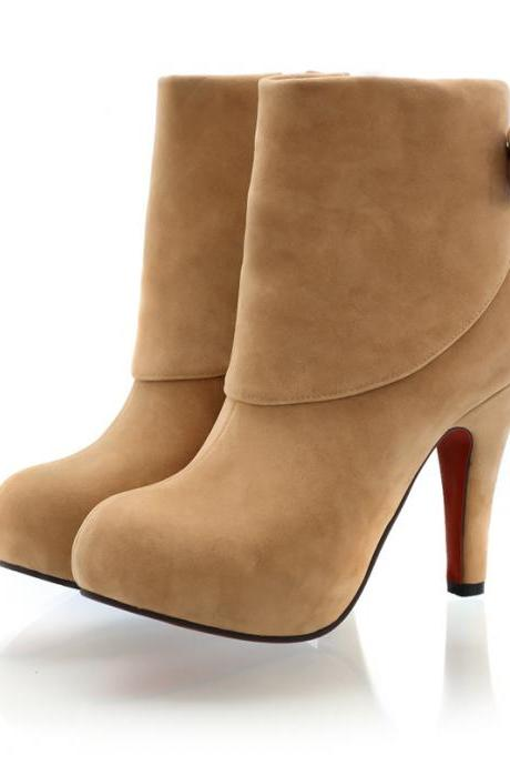 Fashionable High-Heeled Boots