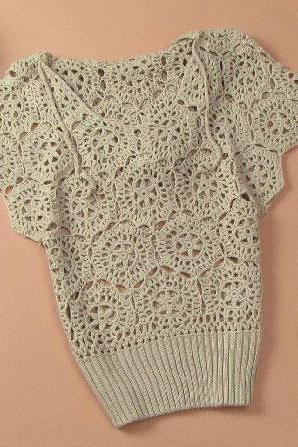 Elegant Floral Crochet Hollow Out Batwing Sleeve Shirt - Khaki