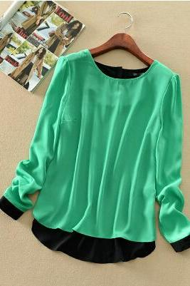 Puff -sleeved Chiffon Pullover Woman MG818FB