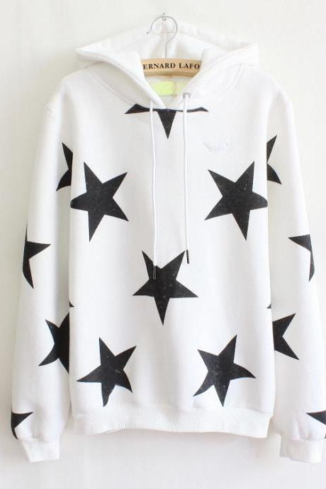 Stars Hooded Fleece Sweater AW915BE