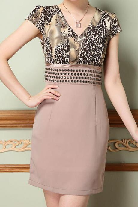 Beaded Short Sleeve Dress AFBEEG