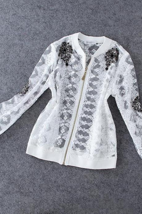 Heavy Beaded Lace Jacket SA710FE