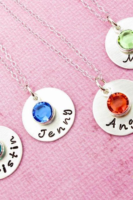 Bridesmaid Gift Bridesmaid Necklace Bridesmaid Necklaces Bridesmaids Personalized Jewelry for Bridesmaids