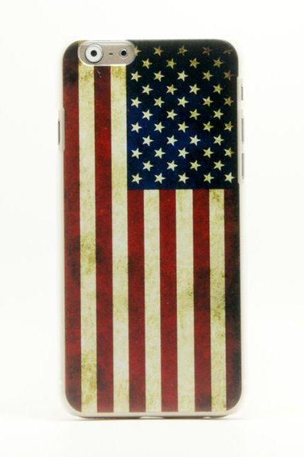 US flag plastic protector cover iphone 6 4.7""
