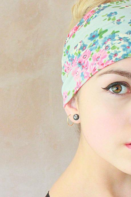 2 in 1 Turban Headband, Yoga Headband, Turban Twist, Exercise headband, Boho Headband, Hippie Headband