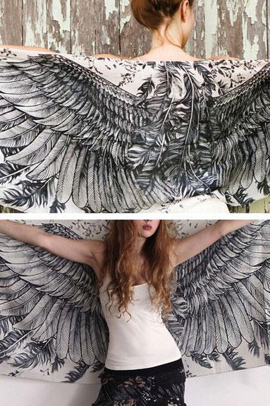 Angel Wings Long Scarf