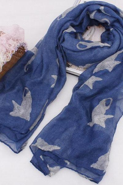 Cats Voile Scarf