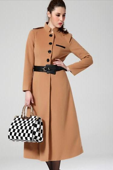 Elegant European Style Long Winter Coat in 2 Colors
