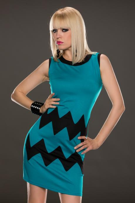 Women's Blue&Black Fashion high Quality Dress free shipping