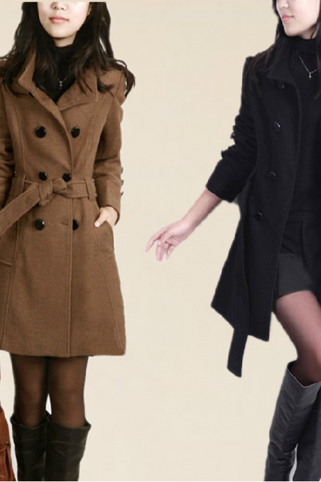 Double-breasted wool coat BN1112BJ