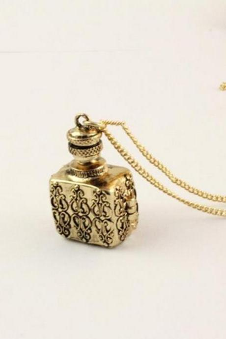 Beautiful bottle long necklace, can open