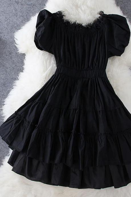 Black Lace Dress GH804BE