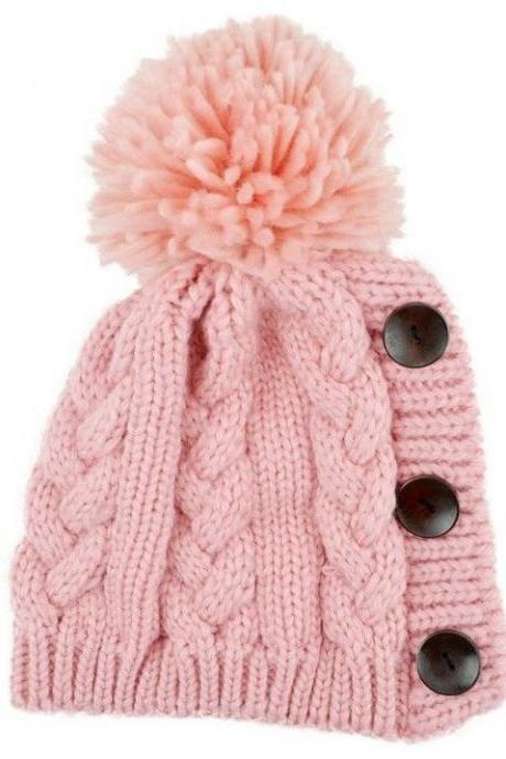 Winter fashion cotton cute girl hat