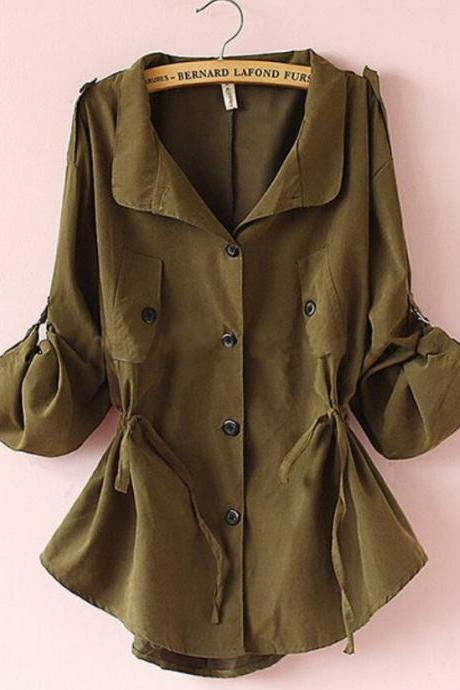 Lace-up Trench Coat MG818B