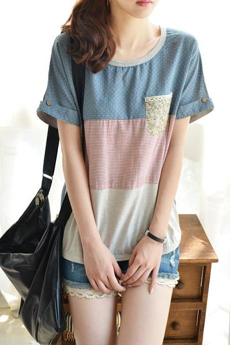 Simple And Comfortable T-shirt AD813CB