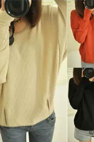 Fashion loose knit sweater #111416AD