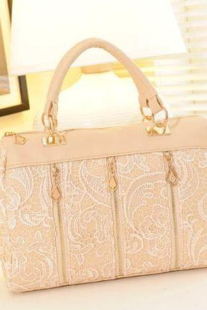 Beautiful Lace Embellished Handbag in 3 Colors