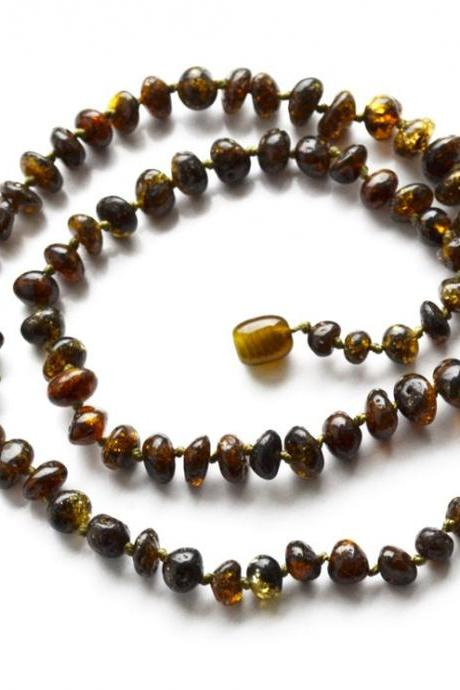 Baltic amber necklace for adults, adults necklace, flat polished Amber, made with genuine amber, amber jewelry, gift, 1800