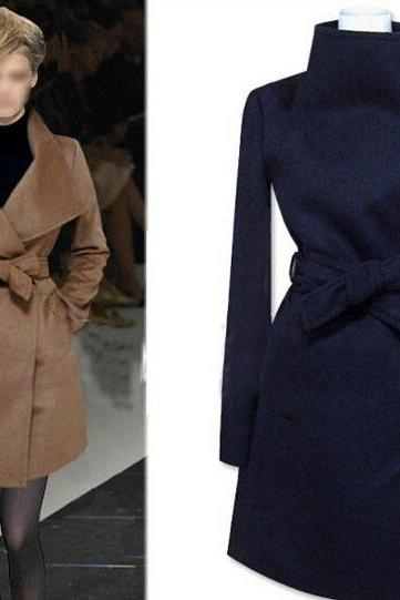 Slim Woolen Coat