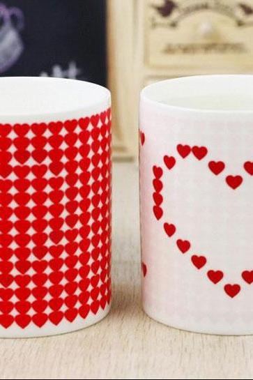 Red Heart Pattern Cup