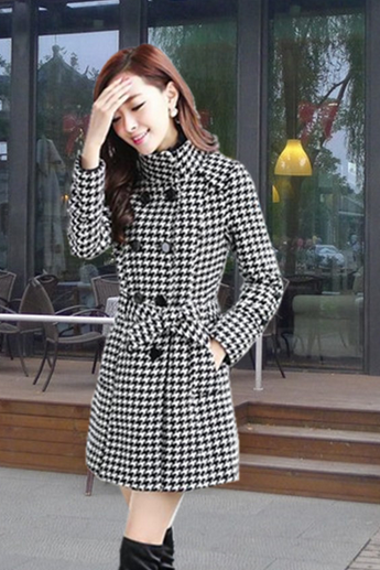 Autumn and winter lady wool coat maxmara long wool double breasted thickening