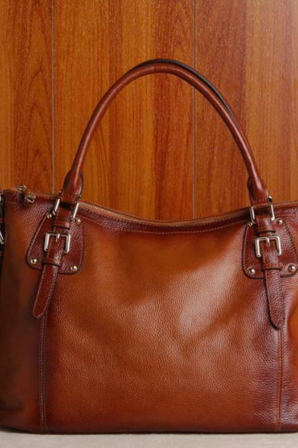 Genuine Leather Handbags Luxury Brown Reddish Leather Bags RCPBG101