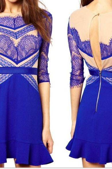 Perspective Lace Dress