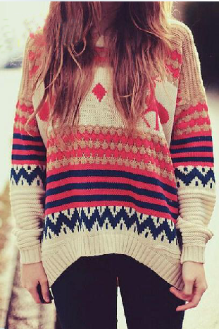 Loose long-sleeved sweater GH112203MH