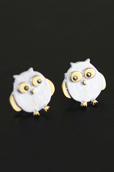 925 STERLING SILVER JEWELRY EARRINGS CUTE Owl Earrings