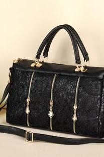Vintage Nice Black Lace Handbag & Shoulder Bag UB4KLCH7PYEHYTNF4K22V