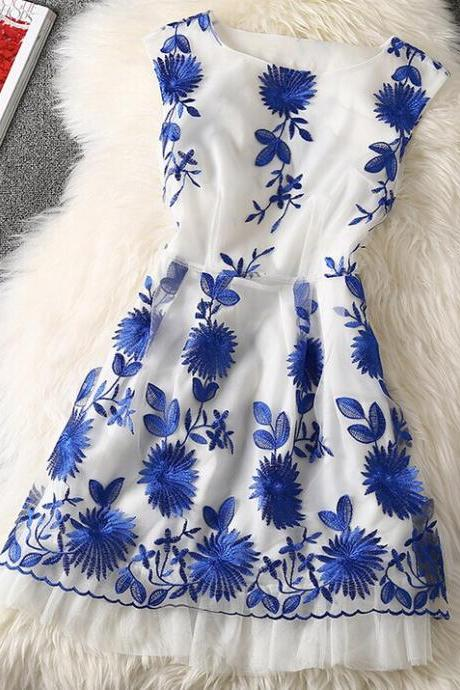 Temperament Sleeveless Printed Dress