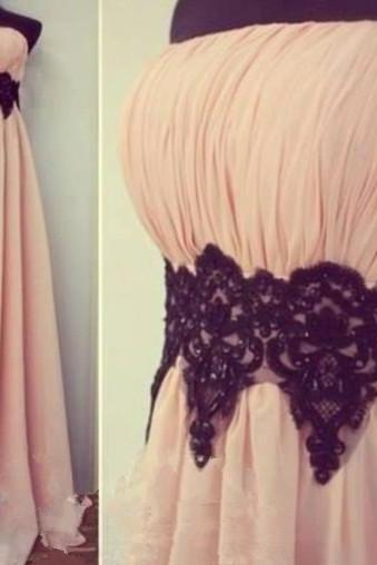 Charming Pearl Pink Scoop Floor Length New Style Prom Dresses 2015, Prom Dress, Prom 2015, Evening Dresses