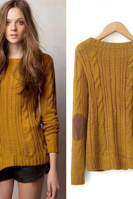 Weave Long Sleeve Knitting Sweater