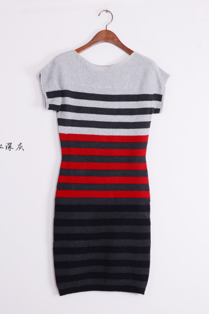 Women's new striped slim slim ladies dress sweaters