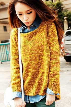 Women's new sweater loose explosion models bat knit shirt